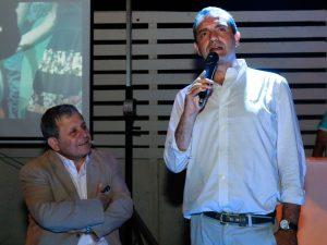 Sergio D'Angelo, commissario Abc, e il sindaco di Napoli Luigi de Magistris