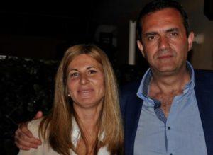 Daniela Villani e il sindaco di Napoli Luigi de Magistris
