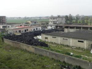 Una discarica in provincia di Caserta