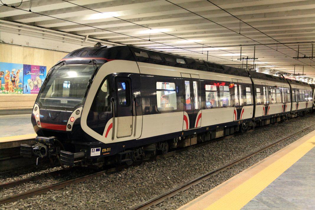 Un treno della Circumvesuviana