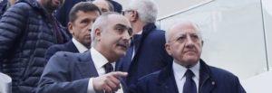 Ciro Verdoliva e il governatore Vincenzo De Luca