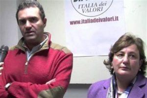 L'ex assessora comunale Pina Tommasielli e il sindaco Luigi de Magistris