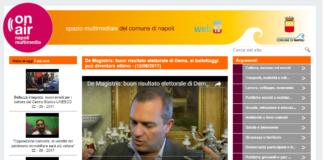 L'intervista del sindaco de Magistris alla webtv del Comune di Napoli dopo il primo turno alle amministrative