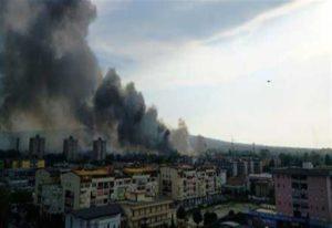 L'incendio del campo rom a Scampia