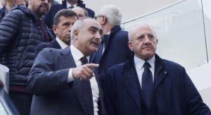 Ciro Verdoliva e il Governatore De Luca