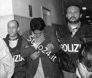 Il boss Pietro Lago al momento del suo arresto