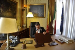 Il sindaco del Comune di Napoli, Luigi de Magistris