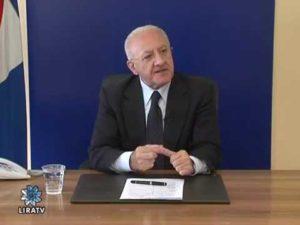 Il Governatore De Luca sulle frequenze di Lira tv