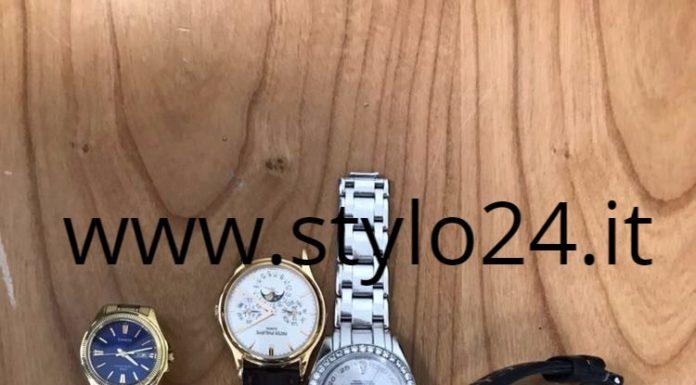 Orologi rubati e recuperati dalla polizia