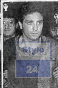 Edoardo Contini al momento del suo arresto