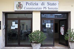 La sede del commissariato di Sorrento