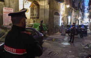 Il luogo dell'omicidio nei Quartieri Spagnoli