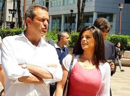 Maria Caniglia e il sindaco Luigi de Magistris