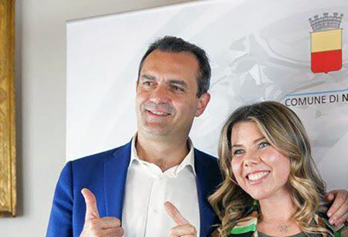 Luigi de Magistris e Alessandra Clemente