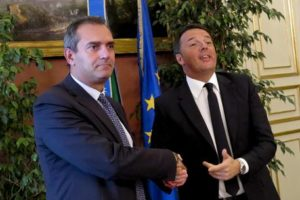 Luigi de Magistris e Matteo Renzi