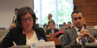 La consigliera regionale Valeria Ciarambino e il vicepresidente della Camera Luigi Di Maio
