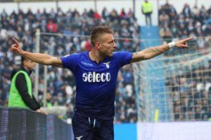 L'attaccante della Lazio, Ciro Immobile
