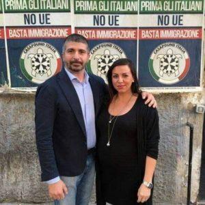 Emmanuela Florino con Simone Di Stefano, leader di Casapound
