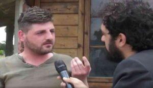 Francesco Tiberio La Torre durante una intervista a 'Le Iene'