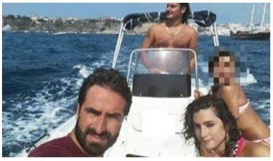 I sedicenti leader di Insurgencia (Egidio Giordano, Eleonora De Majo e Ivo Poggiani) in barca