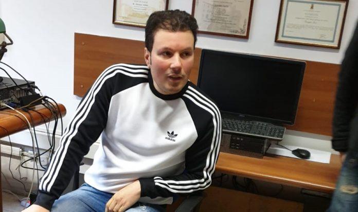 Marco Di Lauro negli uffici della Squadra mobile di Napoli, subito dopo l'arresto