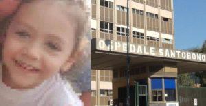 La piccola Noemi è ricoverata all'ospedale Santobono: sta lentamente migliorando