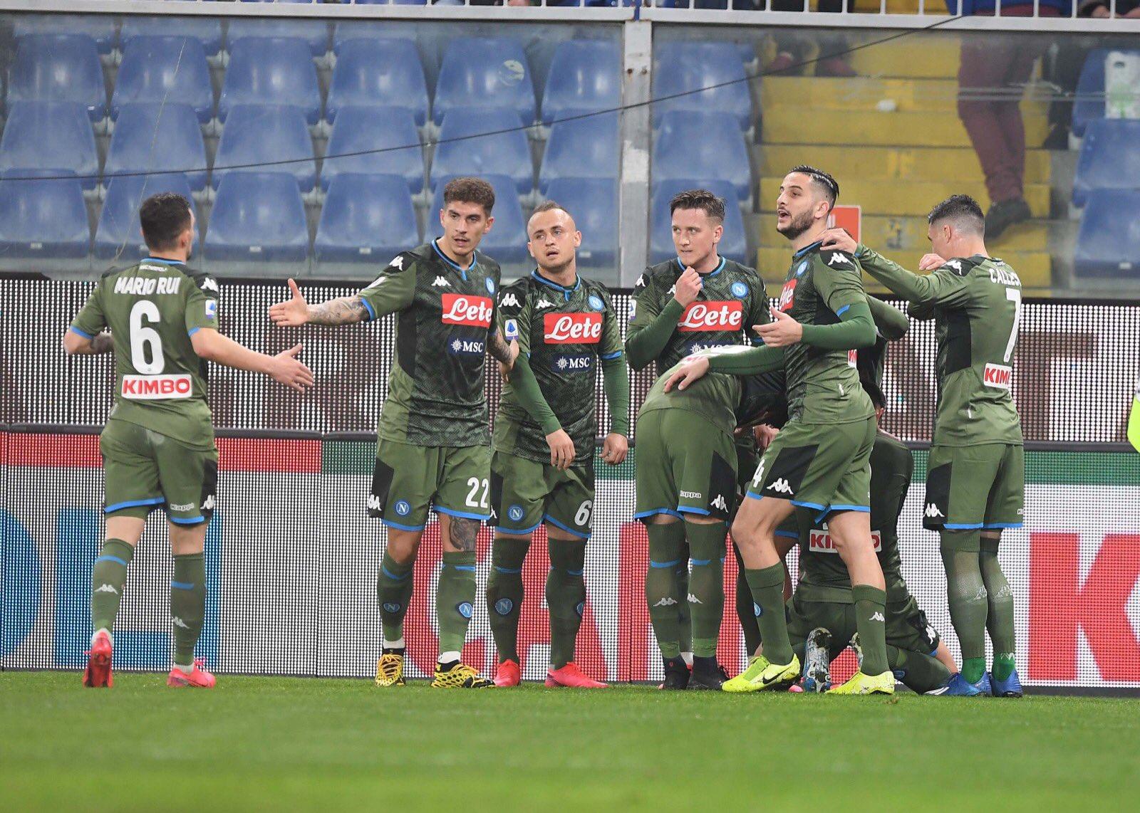 Sampdoria-Napoli 2-4, continua la rincorsa all'Europa