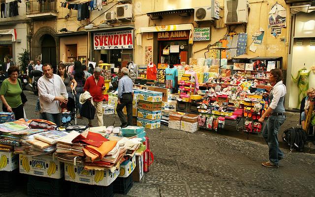 Le strade e i quartieri della città di Napoli - la Pignasecca