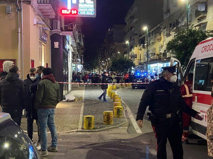 Nella foto i rilievi sulla scena dell'omicidio di Antonio Volpe