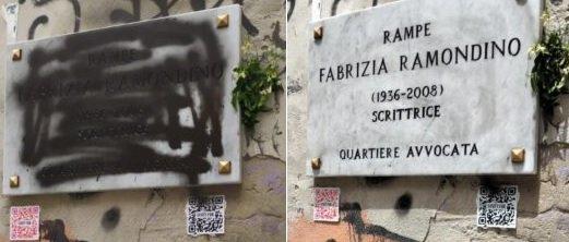 Raid record: vandalizzata la targa per Ramondino