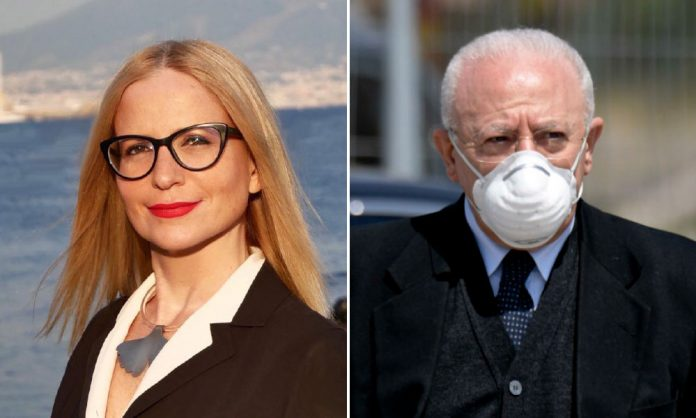 Alessandra Caldoro e Vincenzo De Luca